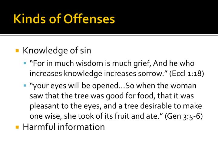 Kinds of Offenses