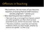 offenses in teaching