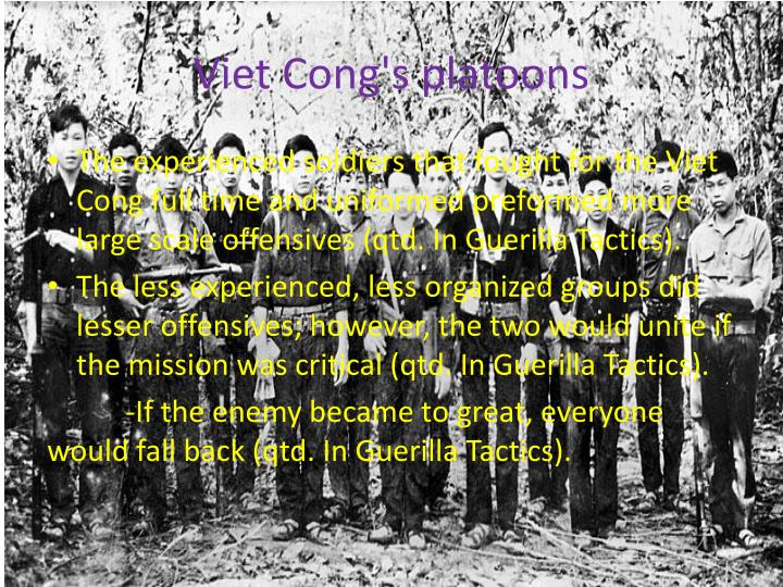 Viet Cong's platoons