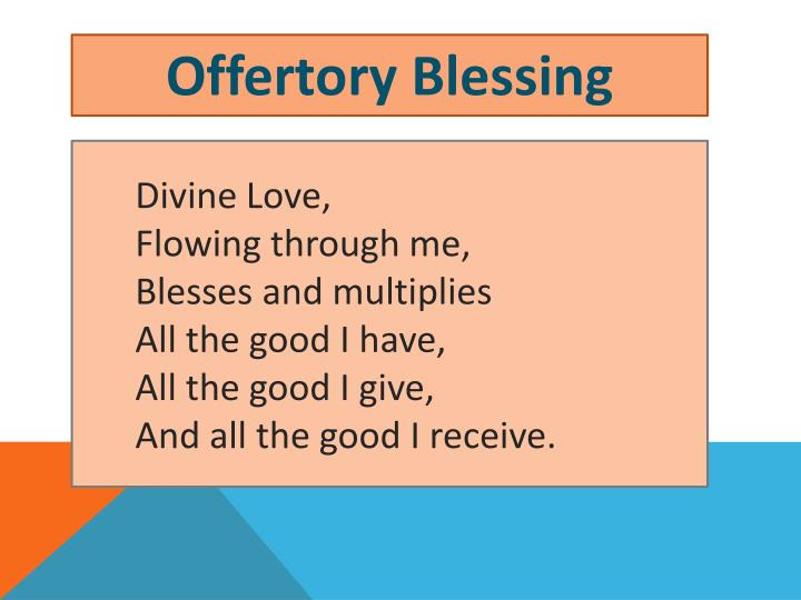 Offertory Blessing