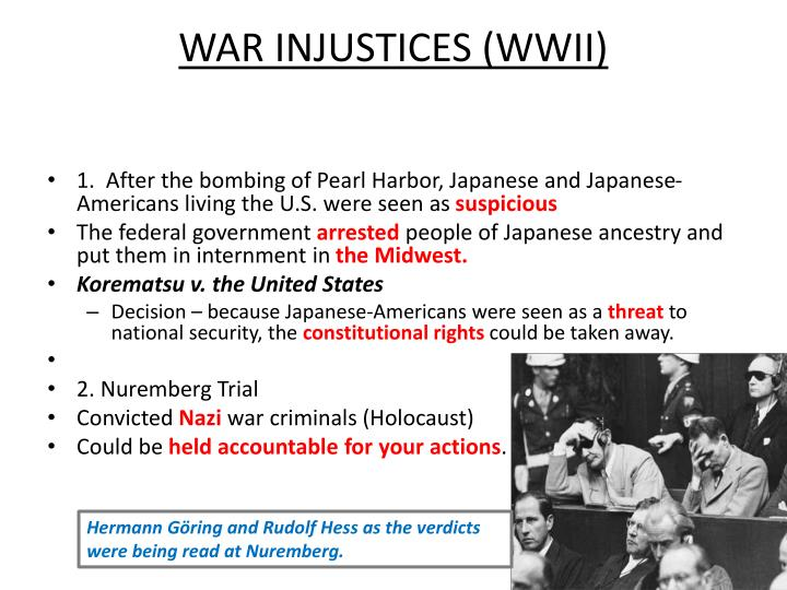 WAR INJUSTICES (WWII)