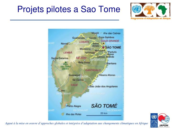 Projets pilotes a Sao Tome