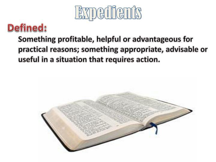 Expedients