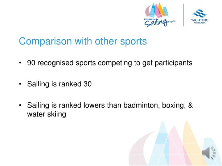 Comparison with other sports