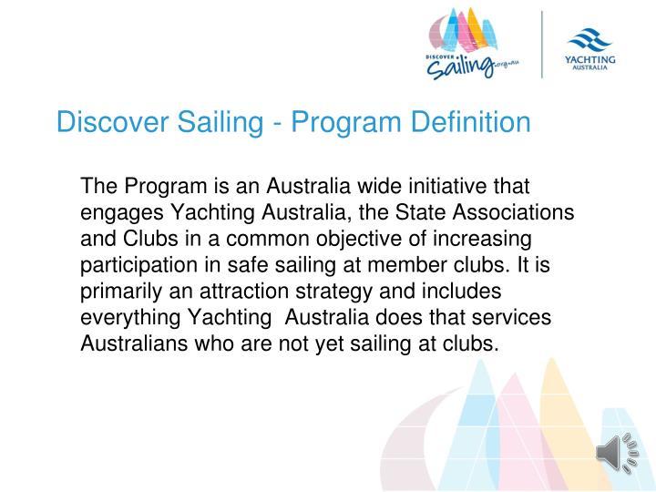 Discover Sailing - Program Definition