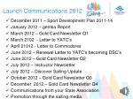 launch communications 2012