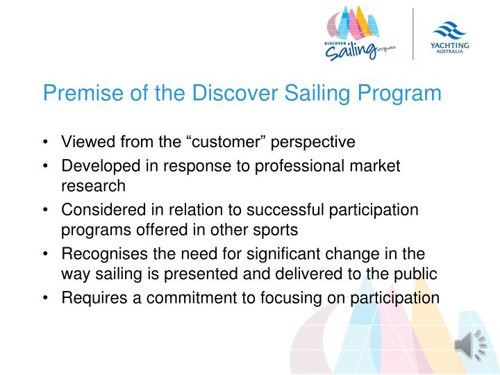 Premise of the Discover Sailing Program