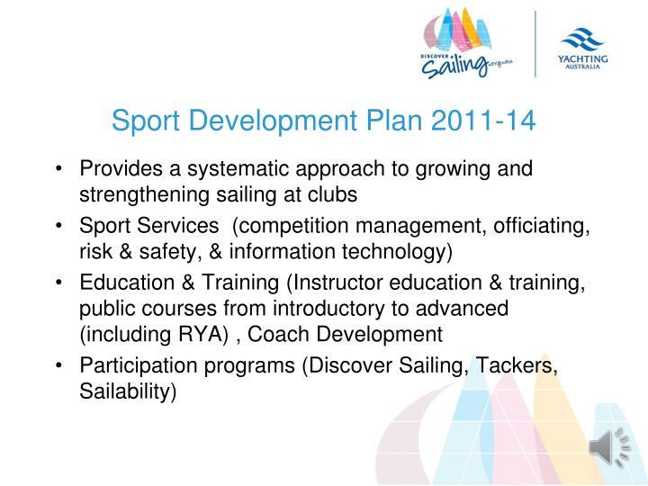 Sport Development Plan 2011-14