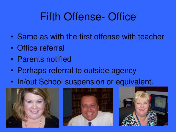 Fifth Offense- Office