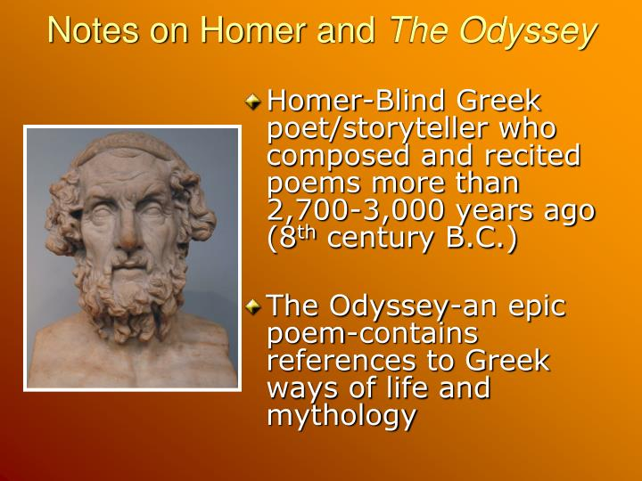 Notes on Homer and