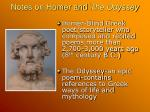 notes on homer and the odyssey