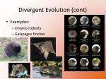 divergent evolution cont