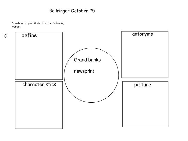 Bellringer October 25