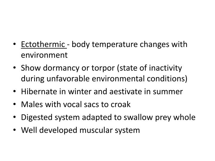 Ectothermic