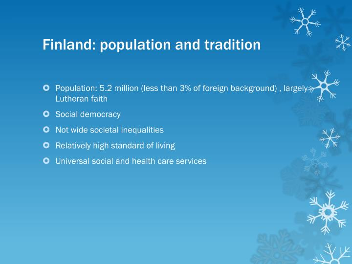 Finland: population and tradition