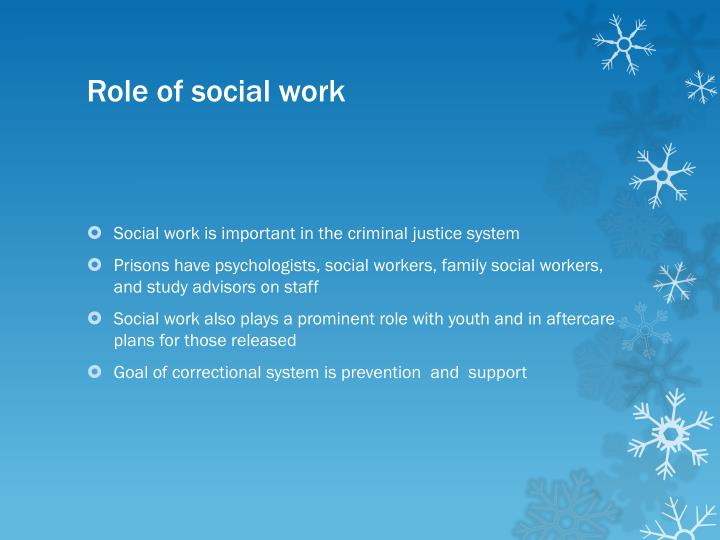 Role of social work