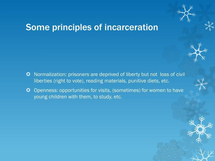 Some principles of incarceration