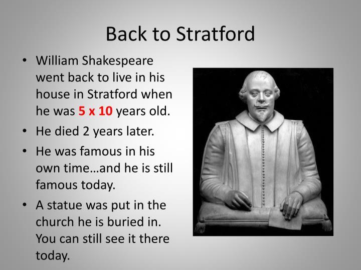 Back to Stratford