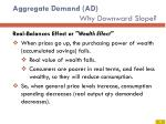 aggregate demand ad why downward slope