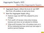 aggregate supply as short run aggregate supply