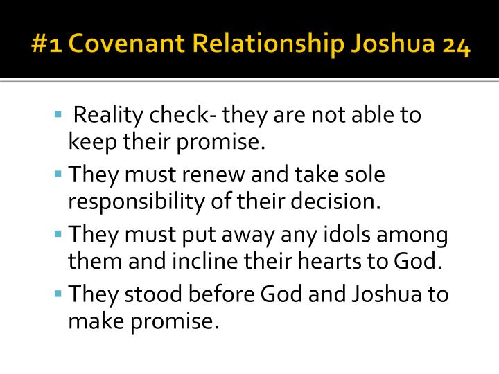 #1 Covenant Relationship Joshua 24