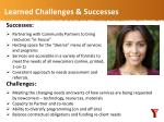 learned challenges successes