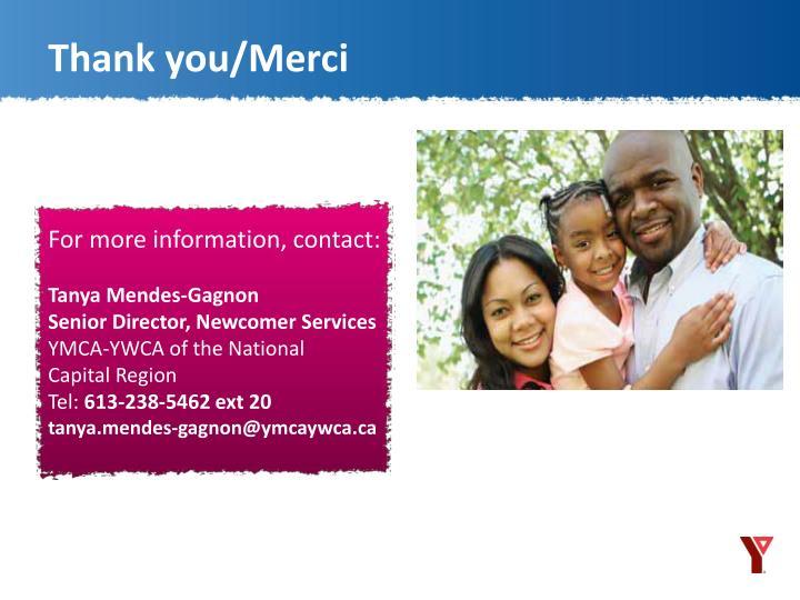 Thank you/Merci