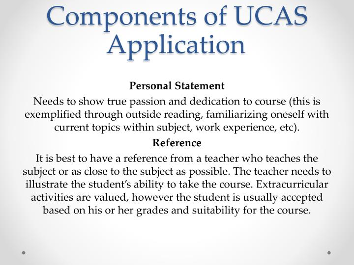 Components of UCAS Application