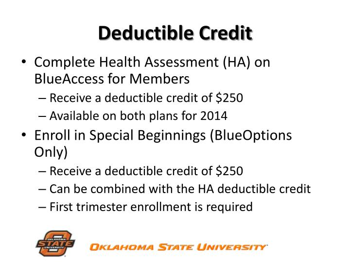 Deductible Credit