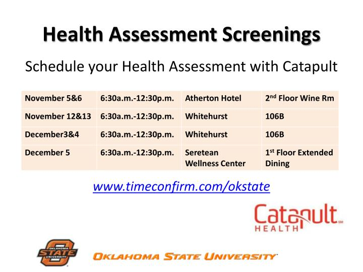 Health Assessment Screenings