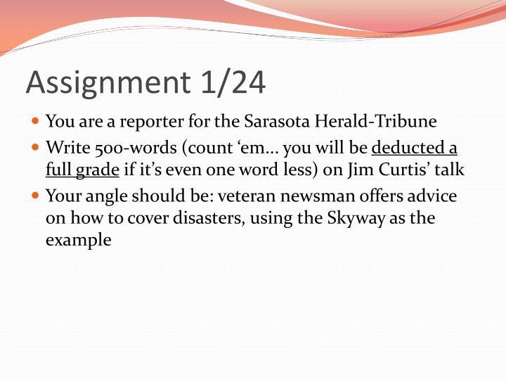 Assignment 1/24