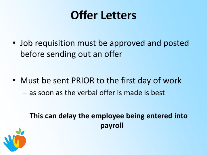 Offer Letters