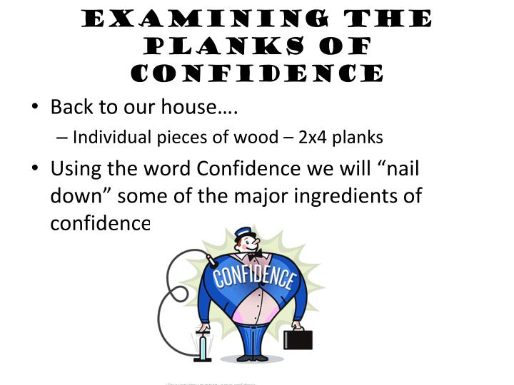 Examining the Planks of Confidence