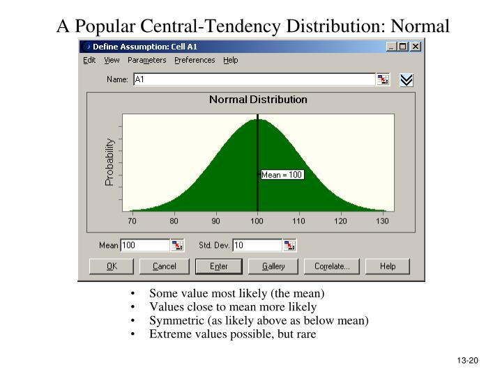 A Popular Central-Tendency Distribution: Normal