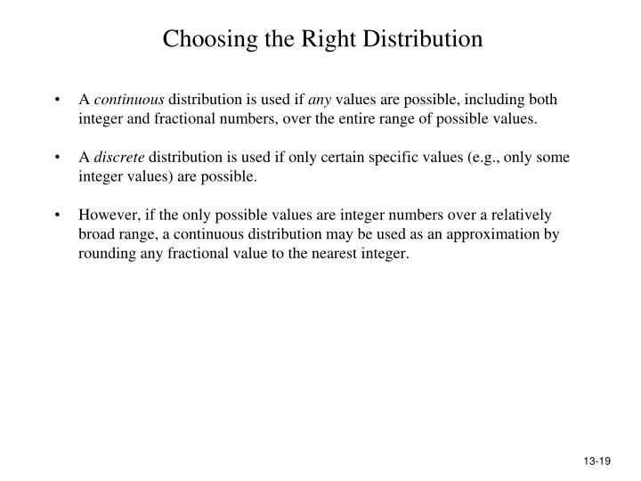 Choosing the Right Distribution