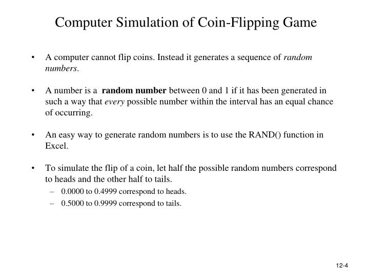 Computer Simulation of Coin-Flipping Game