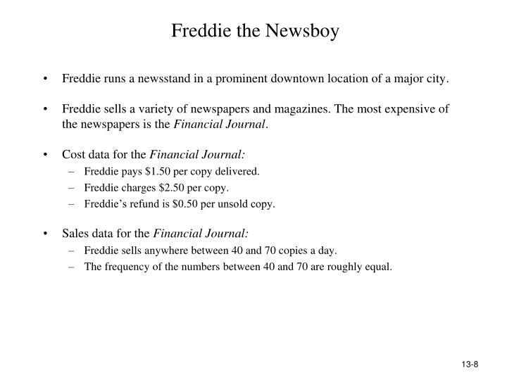 Freddie the Newsboy