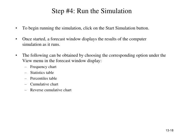 Step #4: Run the Simulation