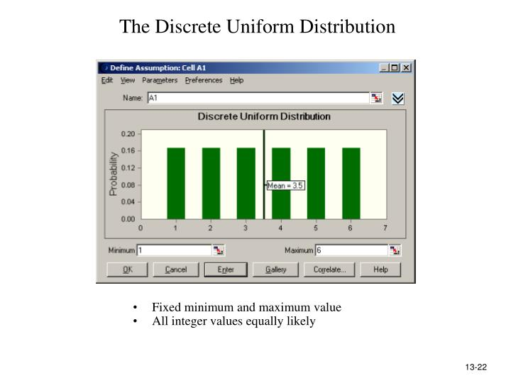 The Discrete Uniform Distribution