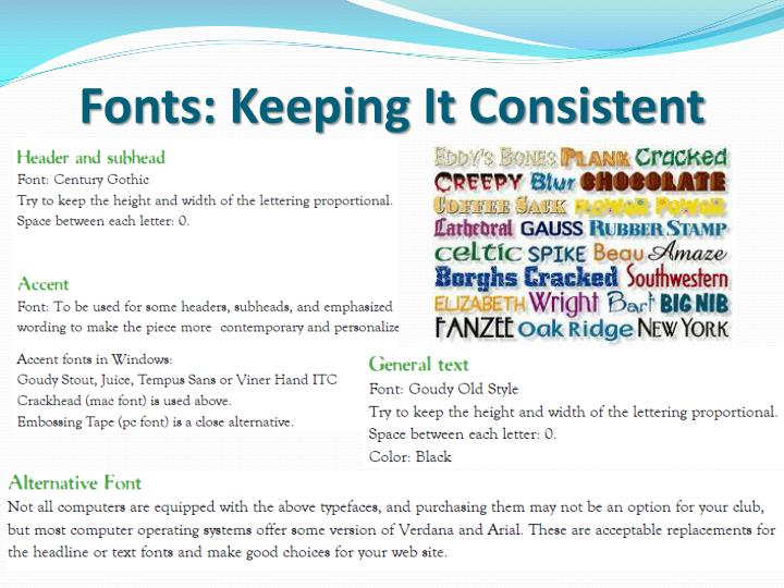 Fonts: Keeping It Consistent