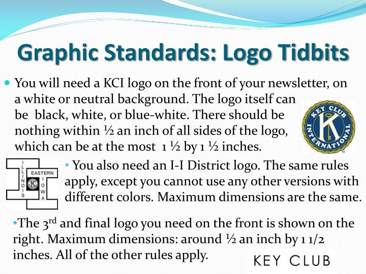 Graphic standards logo tidbits