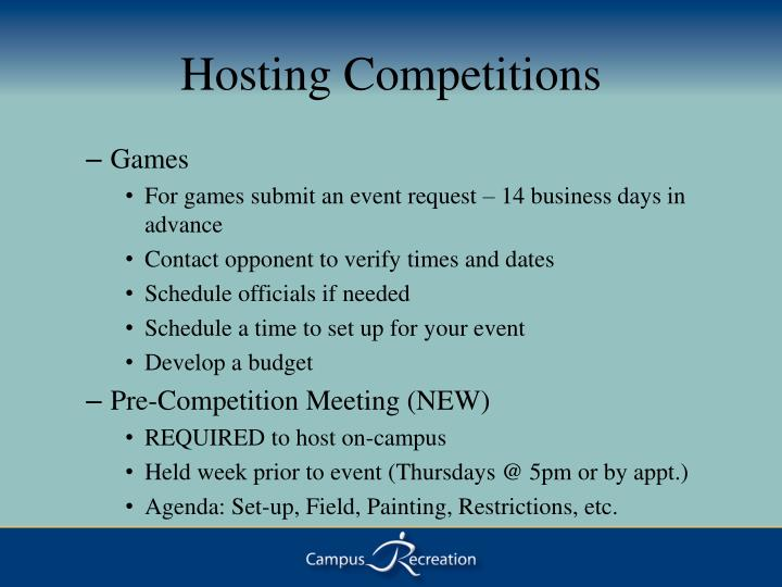 Hosting Competitions