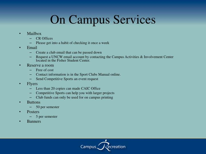 On Campus Services