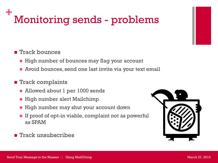 Monitoring sends - problems