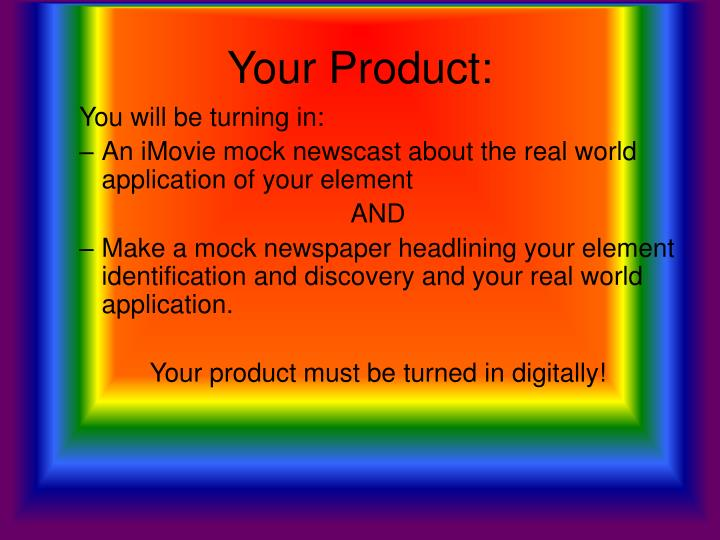 Your Product:
