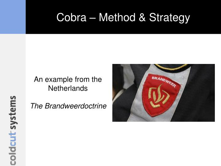 Cobra – Method & Strategy
