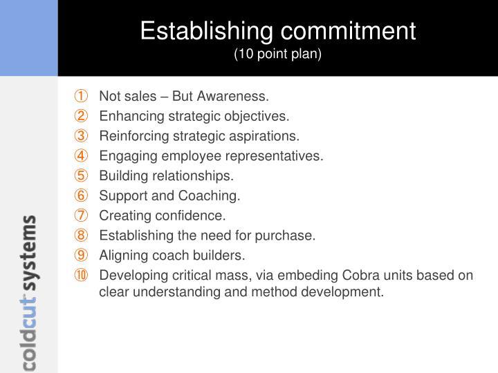 Establishing commitment