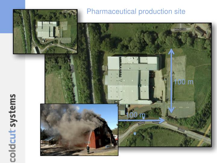 Pharmaceutical production site