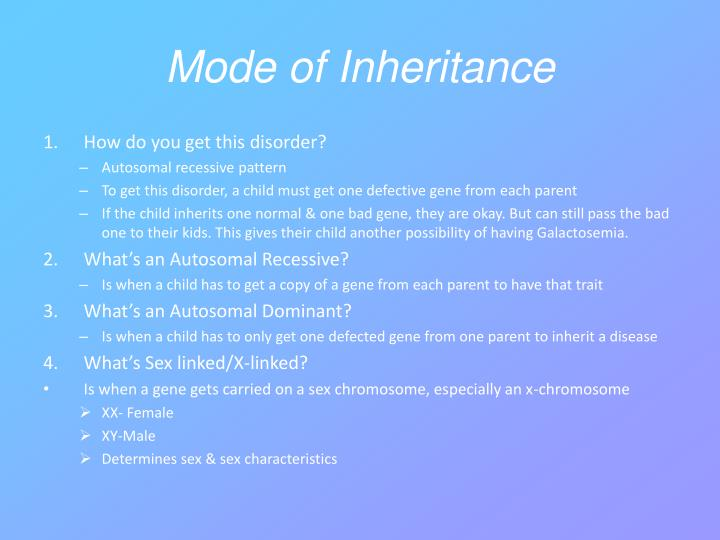 Mode of Inheritance