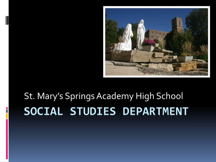 st mary s springs academy high school
